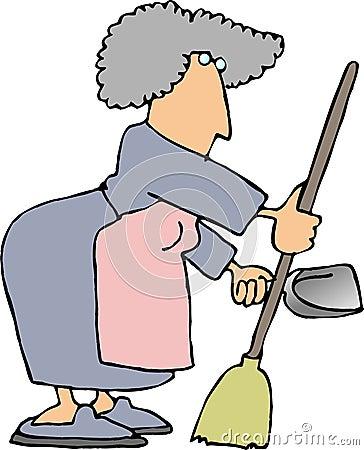Housework1 Cartoon Illustration