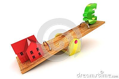 Housing Debt Euro Illustration