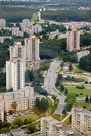 Housing estates in Vilnius