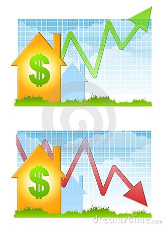Free Housing Market Up And Down Stock Photos - 4882573