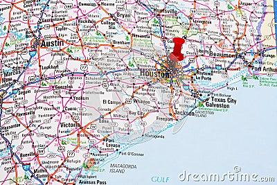 карта houston