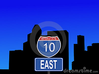 Houston interstate 10 sign