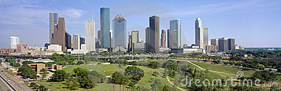 Houston Skyline Editorial Stock Photo