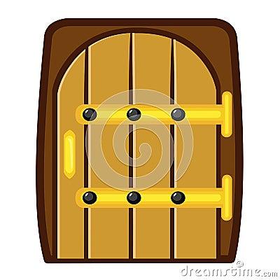 Houten deur geïsoleerde illustratie