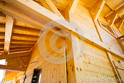 Houten huisbouw