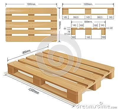 Houten Pallet Stock Afbeeldingen - Beeld: 34532624
