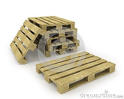 Houten pallet en stapel pallets stock afbeelding afbeelding 16596541 - Foto houten pallet ...