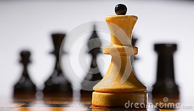 Houten schaakbord