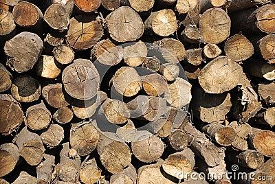 Brandhoutstapel