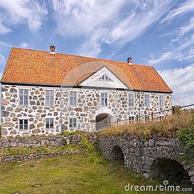 Free Hovdala Slott From Moat Royalty Free Stock Image - 47002616
