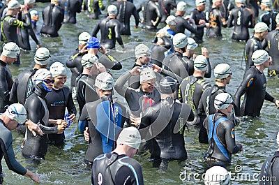 Hove Triathlon Editorial Stock Image