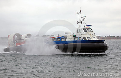 Hovercraft at sea