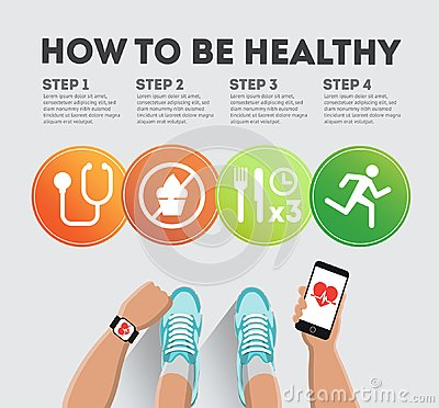 How to be healthy Vector Illustration
