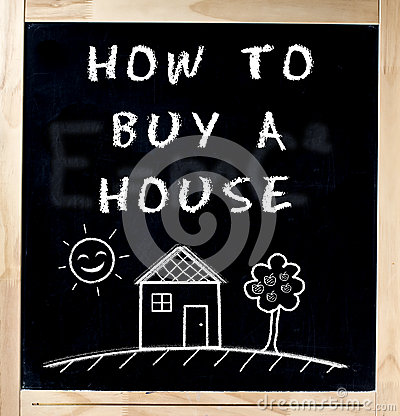 How to Buy a House on Chalkboard