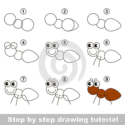 How To Draw An Ant Stock Vector - Image: 65900571 View Image