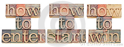 How to enter, start and win