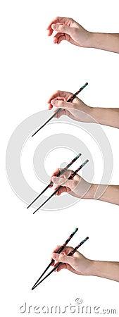 How to handle chopsticks
