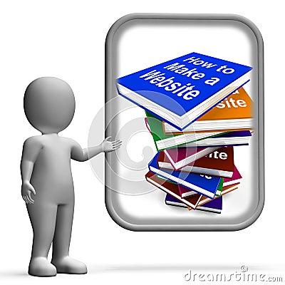 How To Make A Website Book Stack Displays Web Design Stock ...: dreamstime.com/stock-illustration-how-to-make-website-book-stack...
