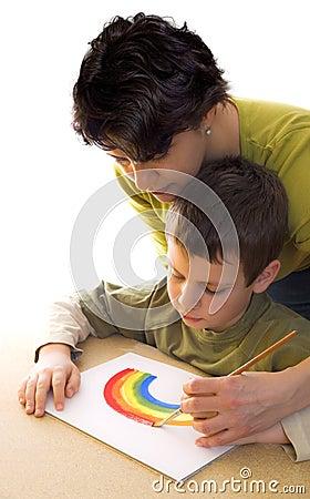 How to paint a rainbow