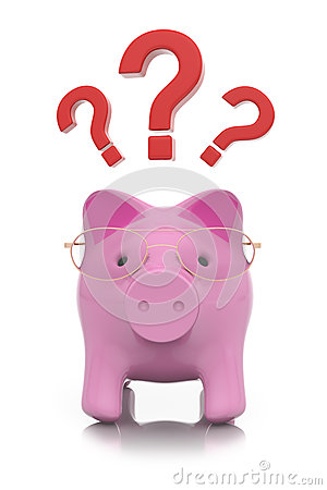 How to save money? piggy concept