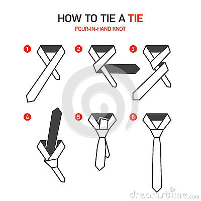 76 Easy Instructions On How To Tie A Necktie A Tie How Easy