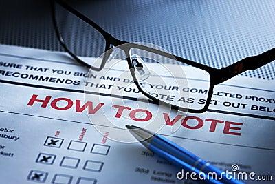 Voting Vote Form Shareholder