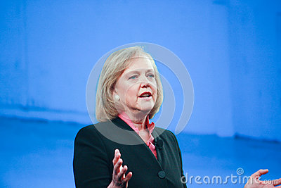 HP president and CEO Meg Whitman Editorial Stock Photo