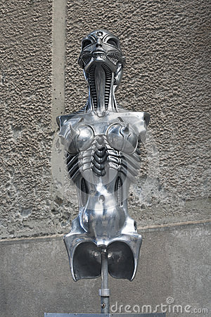 HR Giger sculpture Editorial Stock Photo