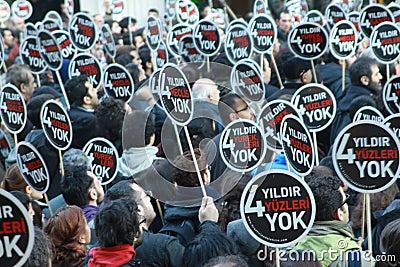 Hrant Dink memorial in Istanbul. Editorial Image