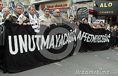 HRANT DINK MEMORIAL IN ISTANBUL. Editorial Stock Photo