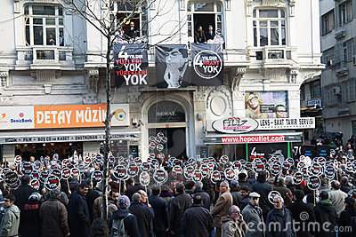Hrant Dink memorial in Istanbul a show of diversit Editorial Photography