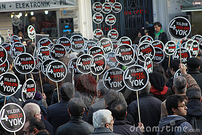 Hrant Dink memorial in Istanbul a show of diversit Editorial Stock Image