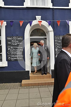 HRH visited aberaeron Editorial Photography