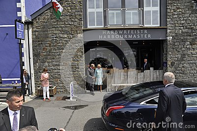 HRH visited aberaeron Editorial Stock Image