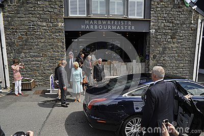 HRH visited aberaeron Editorial Stock Photo