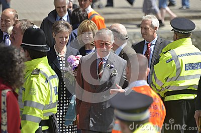 HRH visited aberaeron Editorial Image