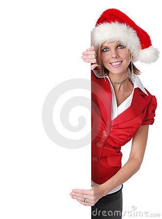 Härlig flickaholding santa för b