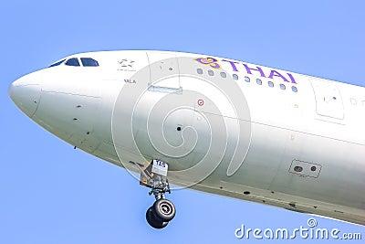 HS-TAS  Airbus A300-600R of Thaiairway Editorial Photo