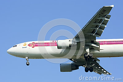 HS-TAW Airbus A300-600R of Thaiairway Editorial Stock Photo