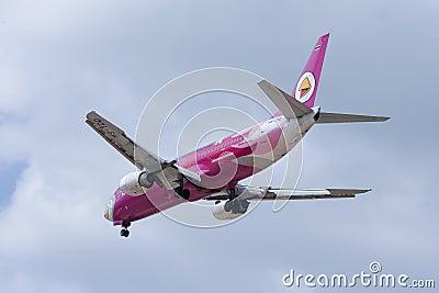 HS-TDD Boeing 737-400 of NokAir airline Editorial Image