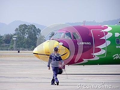 HS-TRA ATR72-200 Editorial Stock Photo
