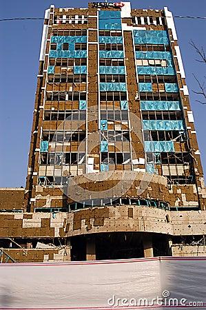HSBC Bank building post 2003 Bombing Editorial Stock Photo