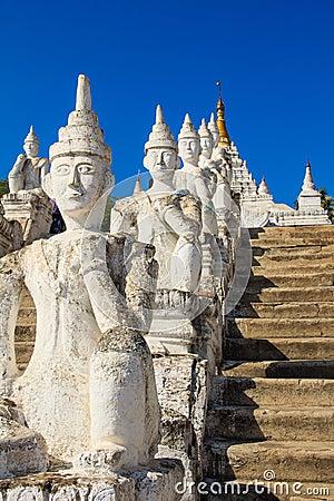 Hsinbyume or Myatheindan pagoda , Mingun  in Myanmar (Burmar)