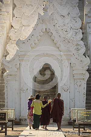 Hsinbyume Pagoda - Mingun - Myanmar (Burma) Editorial Photo