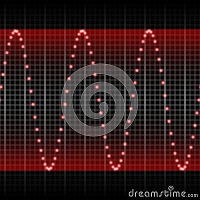 Hsl red sound wave