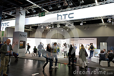 HTC Smartphone maker at Photokina 2012 Editorial Photography