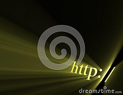 Http hyper link sign light flare