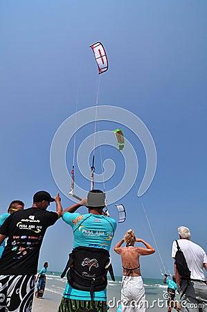 Hua Hin Kite Boarding World Cup 2010 Editorial Photo