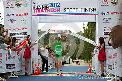 Hua Hin Triathlon competition Editorial Photography