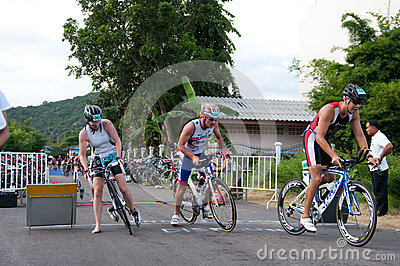 Hua Hin Triathlon competitors Editorial Photo